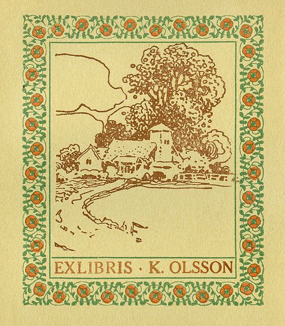 [Bookplate of K. Olsson] | Flickr - Photo Sharing!