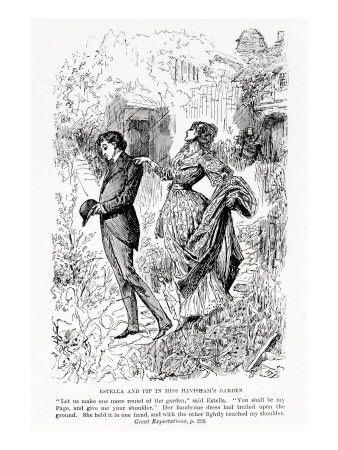 Estella and Pip in Miss Havisham's Garden, Illustration ...