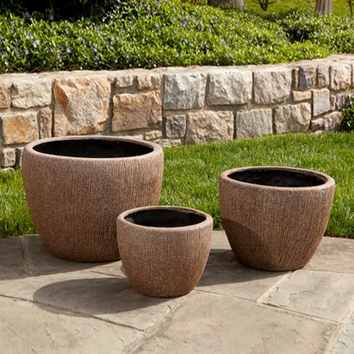 Alfresco Home Graffiato Round Planter Planters At Hayneedle