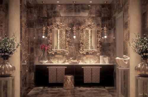 Salle de bain de luxe de design opulent et exotique Salles de