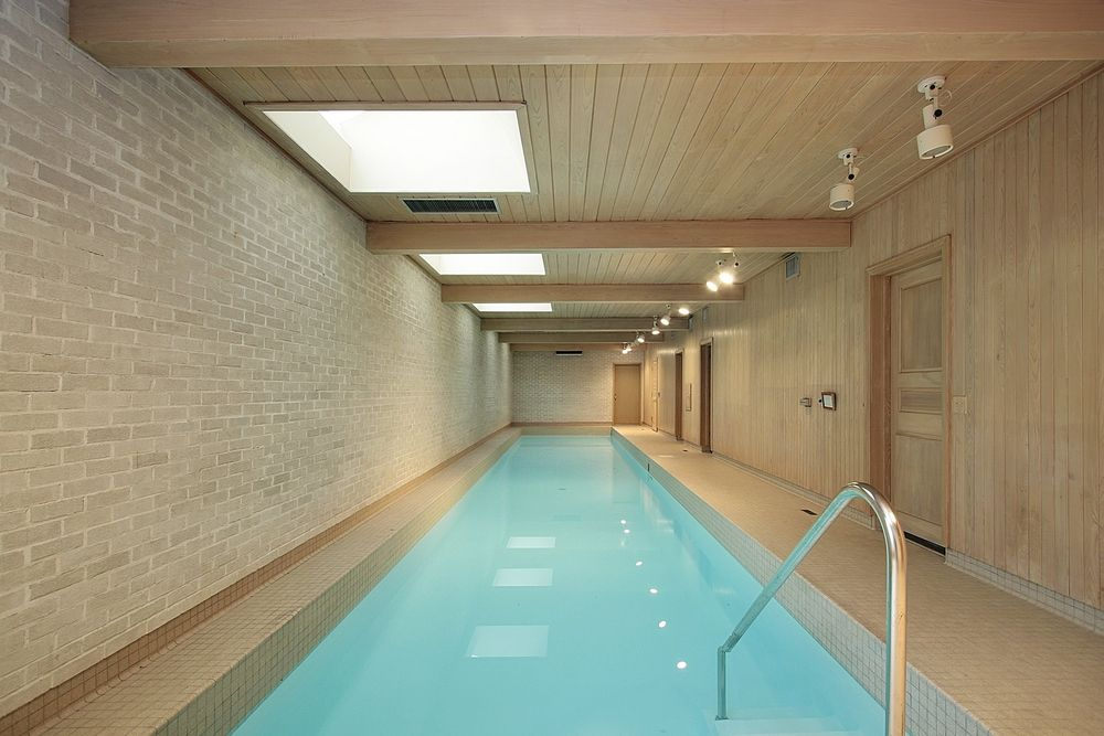 45 screened in, covered and indoor pool designs   lap pools, wall