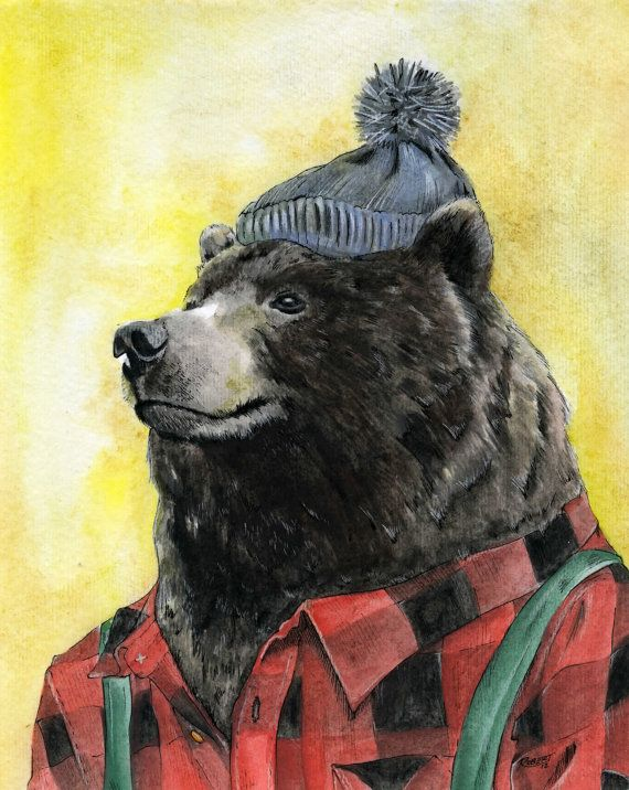 9d37c85cf Bear 8x10 by RobertBobbyArt on Etsy, $20.00 | No place like home ...