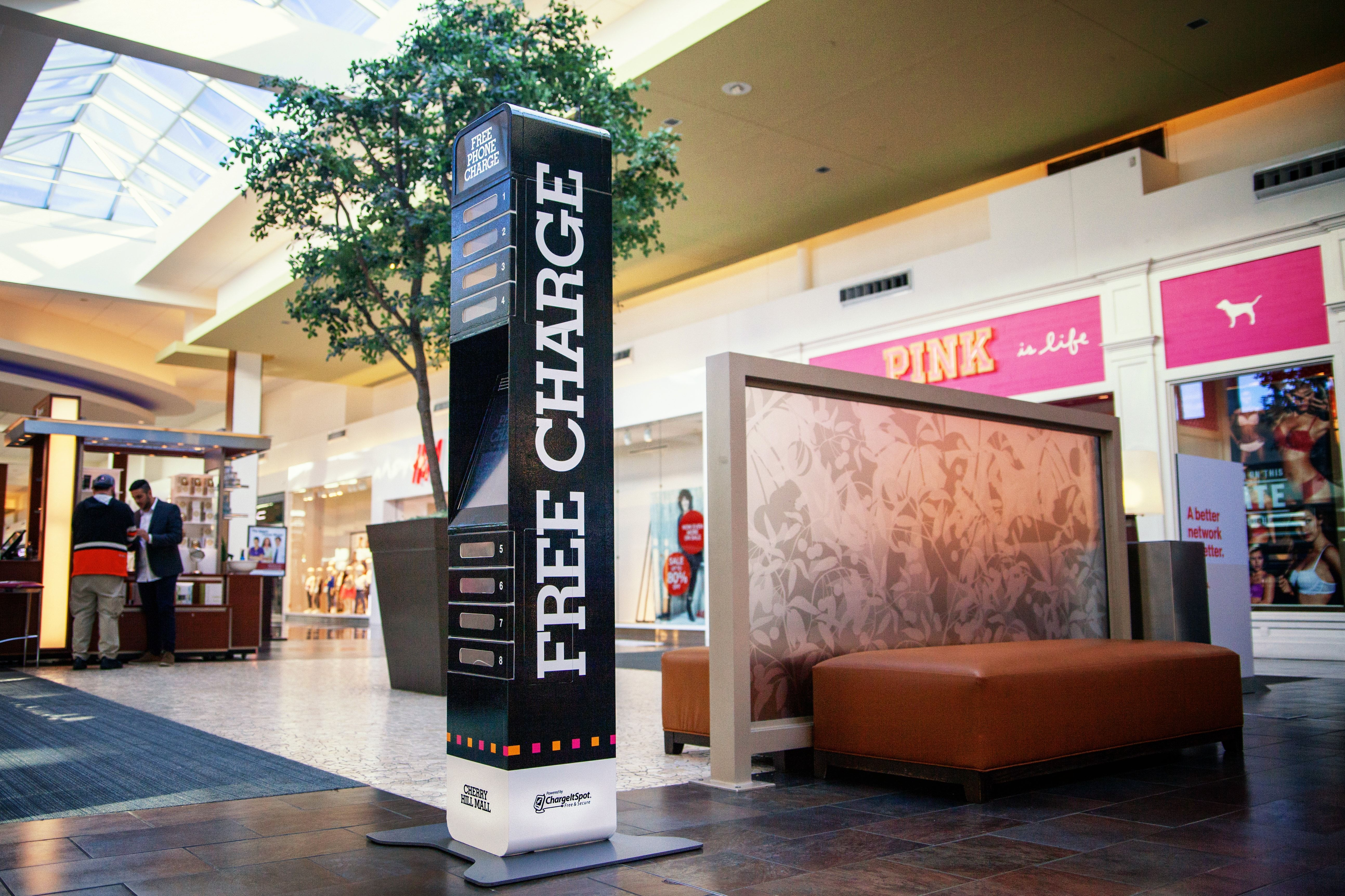 Charge your phone for free at any PREIT mall, including