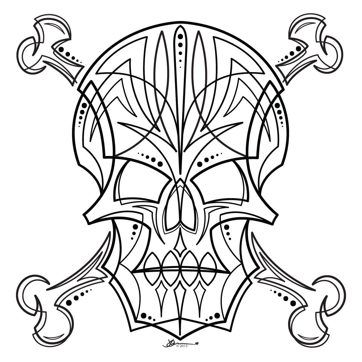 Skull Stripe By John Wilson