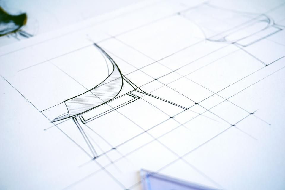 Architectural design plan abstract paper pencil drawing document architectural design plan abstract paper pencil drawing document measurement work technology table office blueprint malvernweather Choice Image