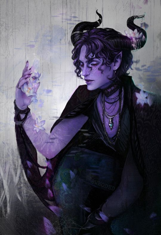 male tiefling wizard druid warlock cleric dampd pcs