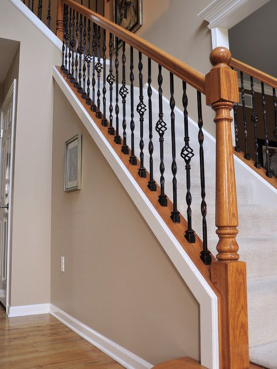 Best Iron Balusters Stair Railing Design Wrought Iron Stair 640 x 480