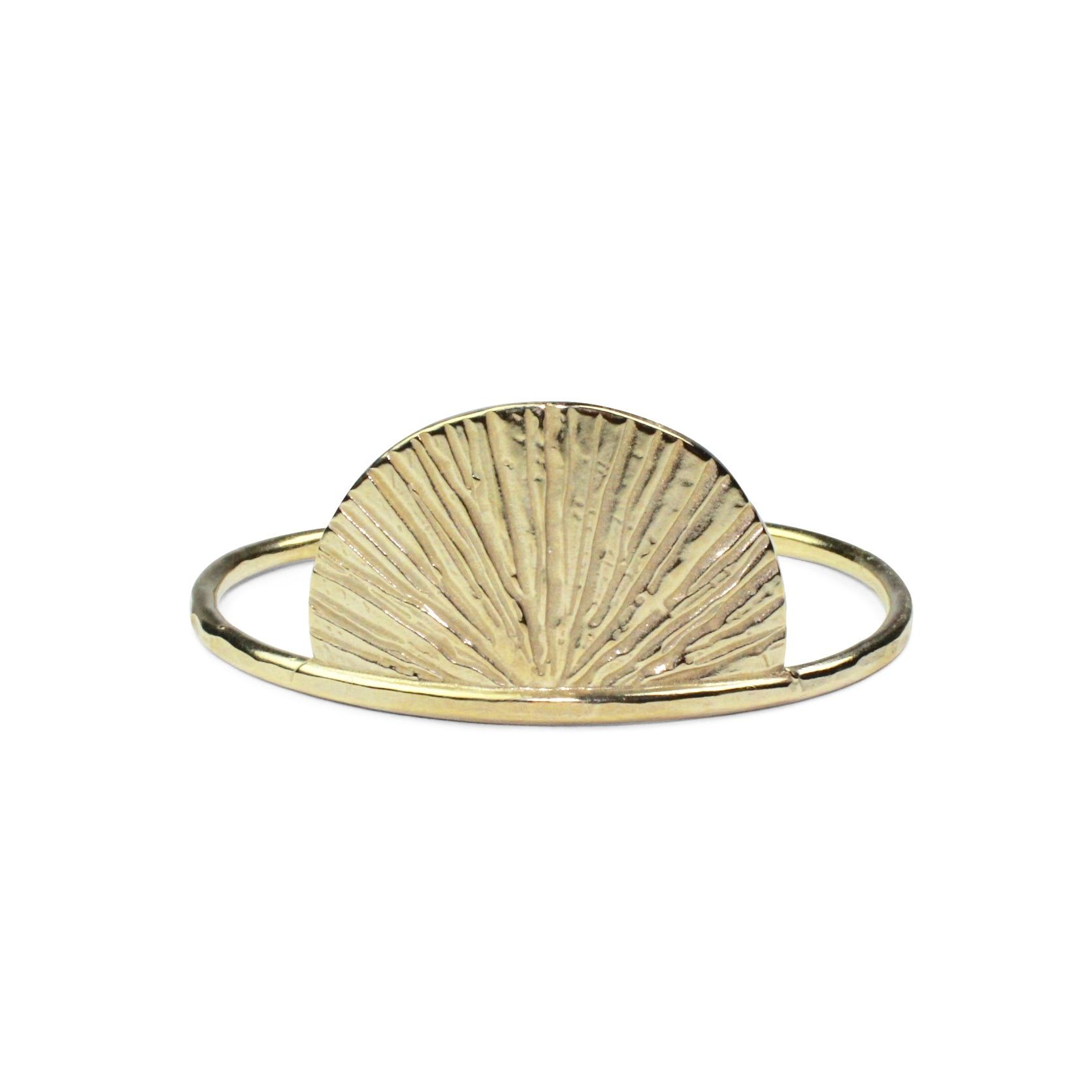 SUNRISE CUFF IN BRASS // RITES COLLECTION // by Amanda Hunt