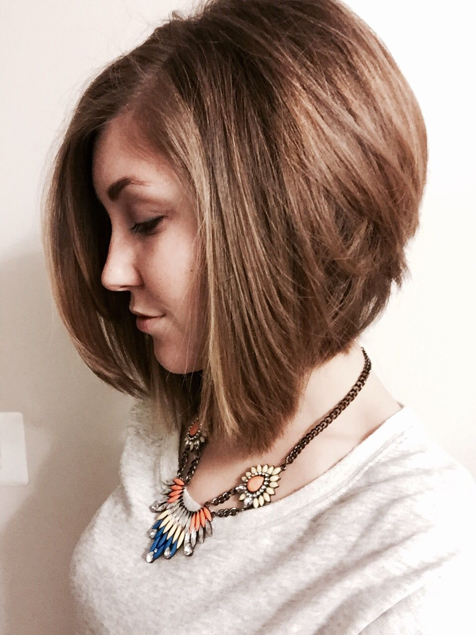 A-line stacked bob | future hair do's | Stacked bob fine hair, Stacked bob hairstyles, Short ...