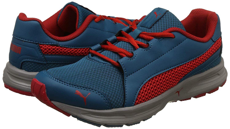 Puma Men S Deep Lagoon Rock Ridge Flame Scarlet Running Shoes 10
