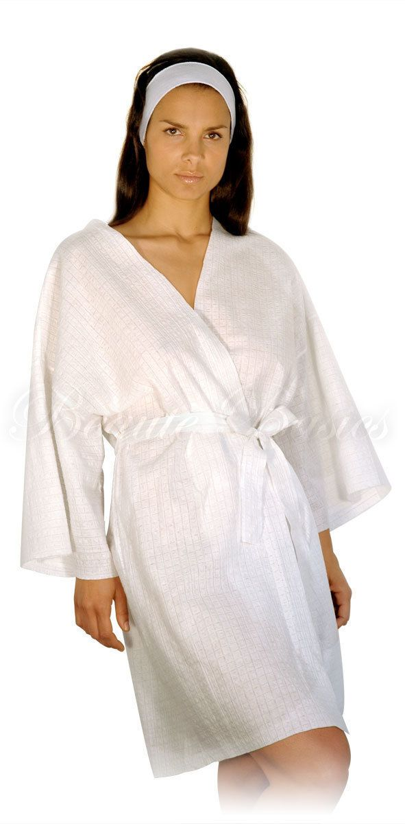 Client Gown for Spa Clinic Massage Sauna 50 Disposable Spa Robes 90550x50