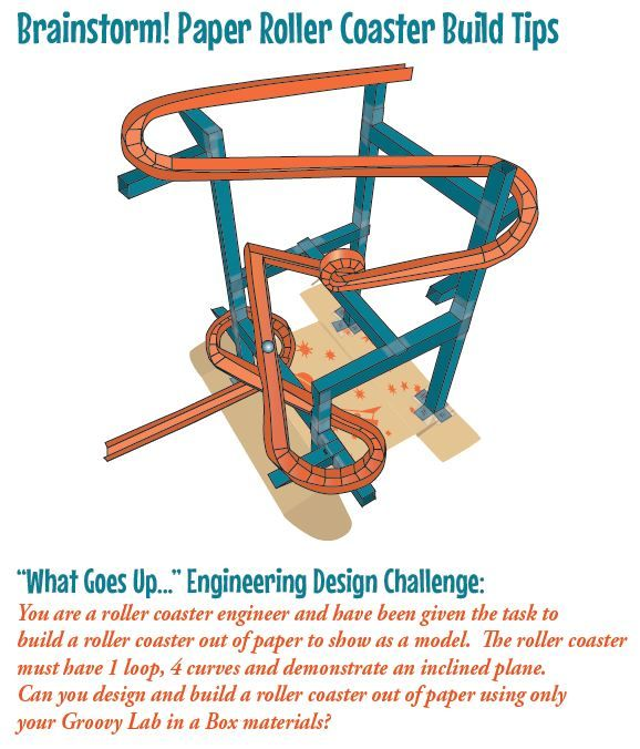What Goes Up Engineering Design Challenge Can You Design And Build A Roller Coaster Engineering Design Challenge Engineering Design Paper Roller Coaster
