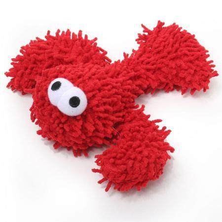 Microfiber Extra Tough Lobster Junior Dog Toy Tough Dog Toys