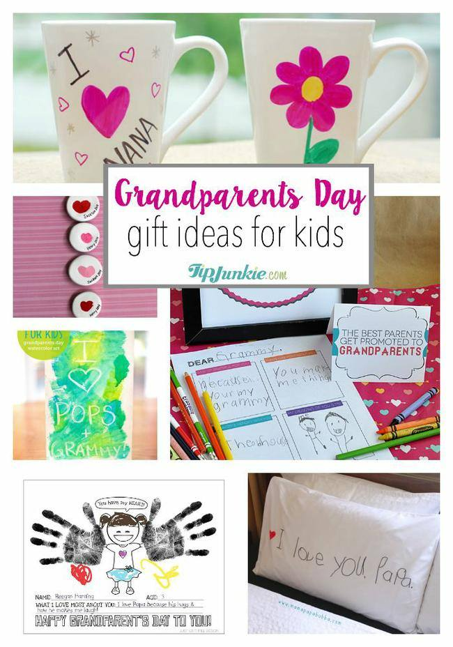 12 Grandparents Day Gift Ideas for Kids #grandparentsdaycrafts
