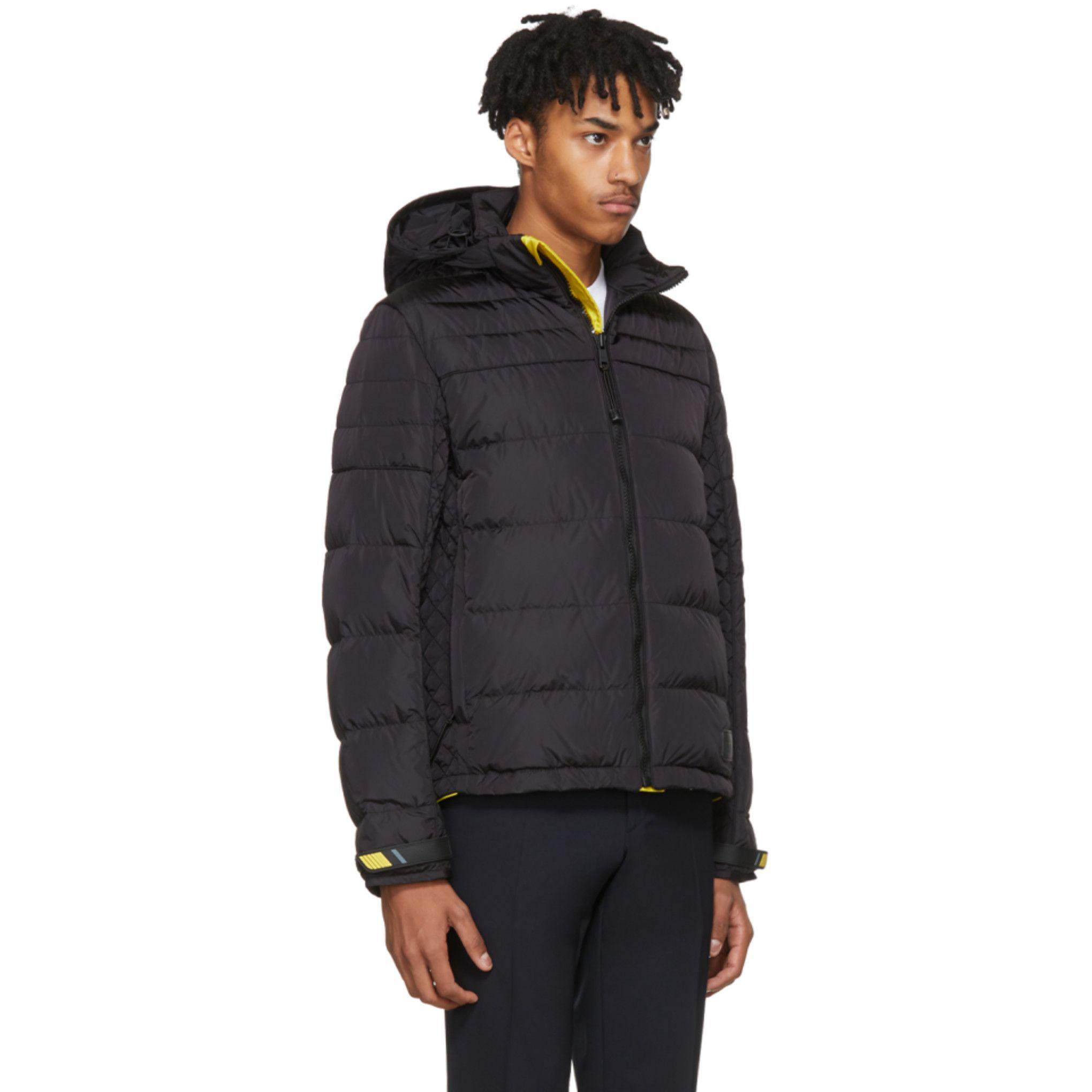 eb5c710c15 Prada - Black & Yellow Down Lightweight Puffer Jacket | Mont