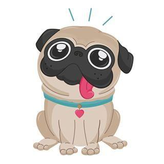 Imagenes Dibujos De Perros Dibujos Bonitos De Animales Arte Pug