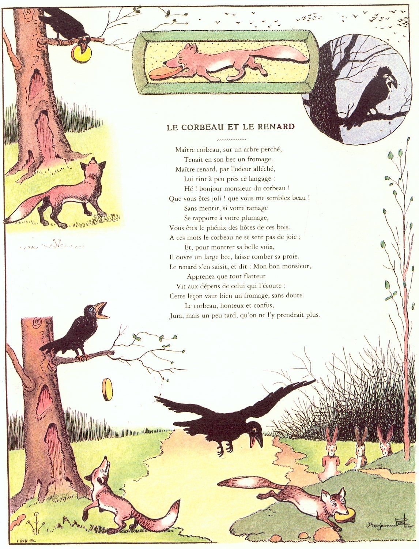 corbeau.et renard (1146×1501)   Raconte-moi une fable ...