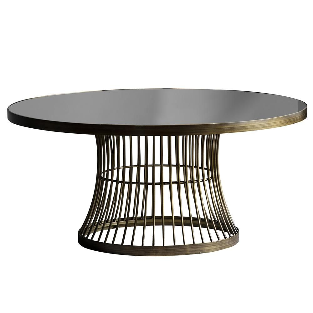 Edna coffee table antique brass bronze coffee table