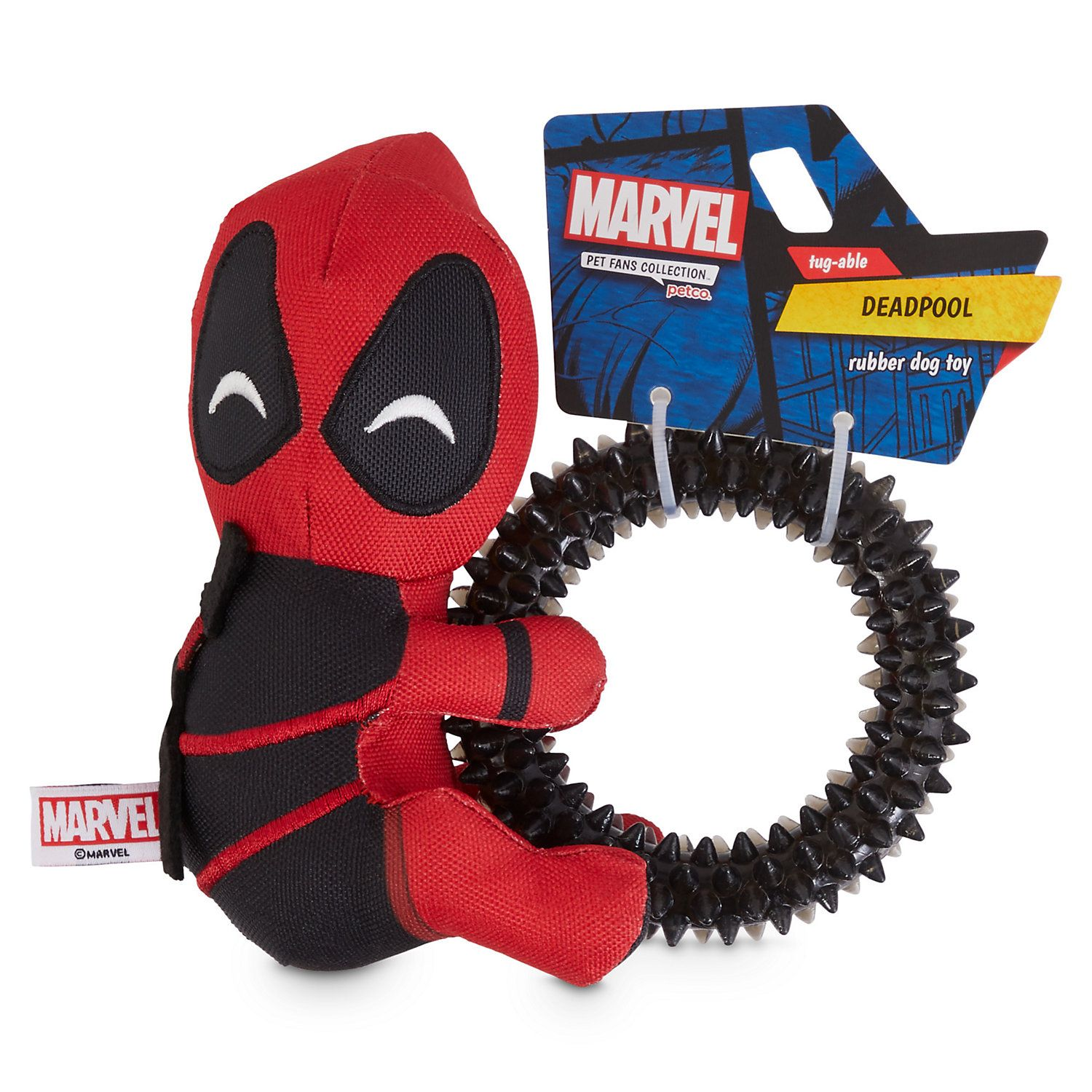 Marvel Deadpool Rubber Dog Toy Small Dog Toys Dog Supplies Petco