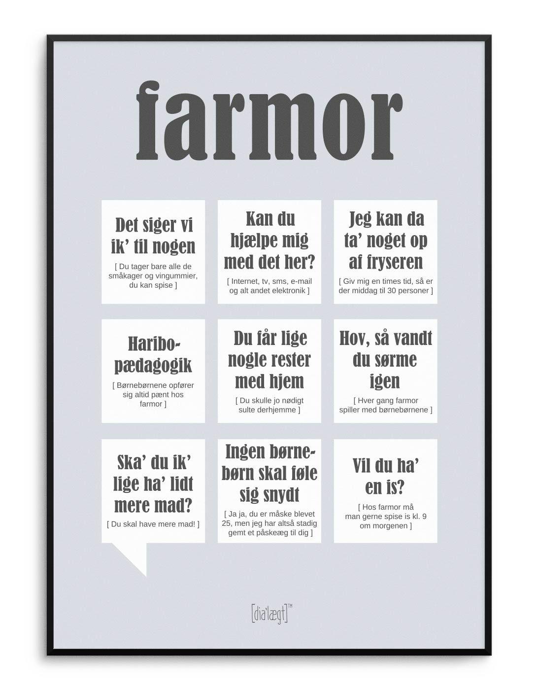 Farmor Plakat Kob Online Med Billeder Sjove Citater Livets Sandheder Plakater