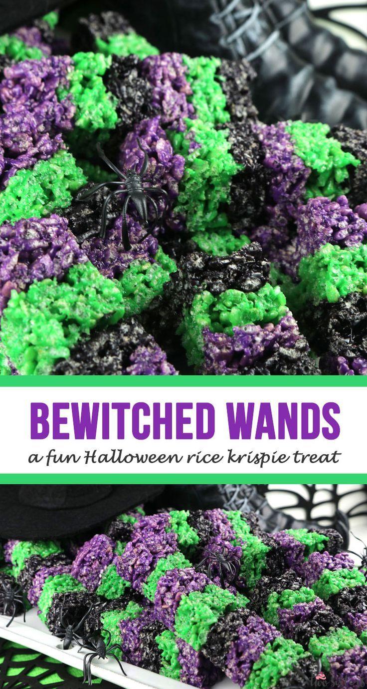 Bewitched Rice Krispie Wands #ricekrispiestreats