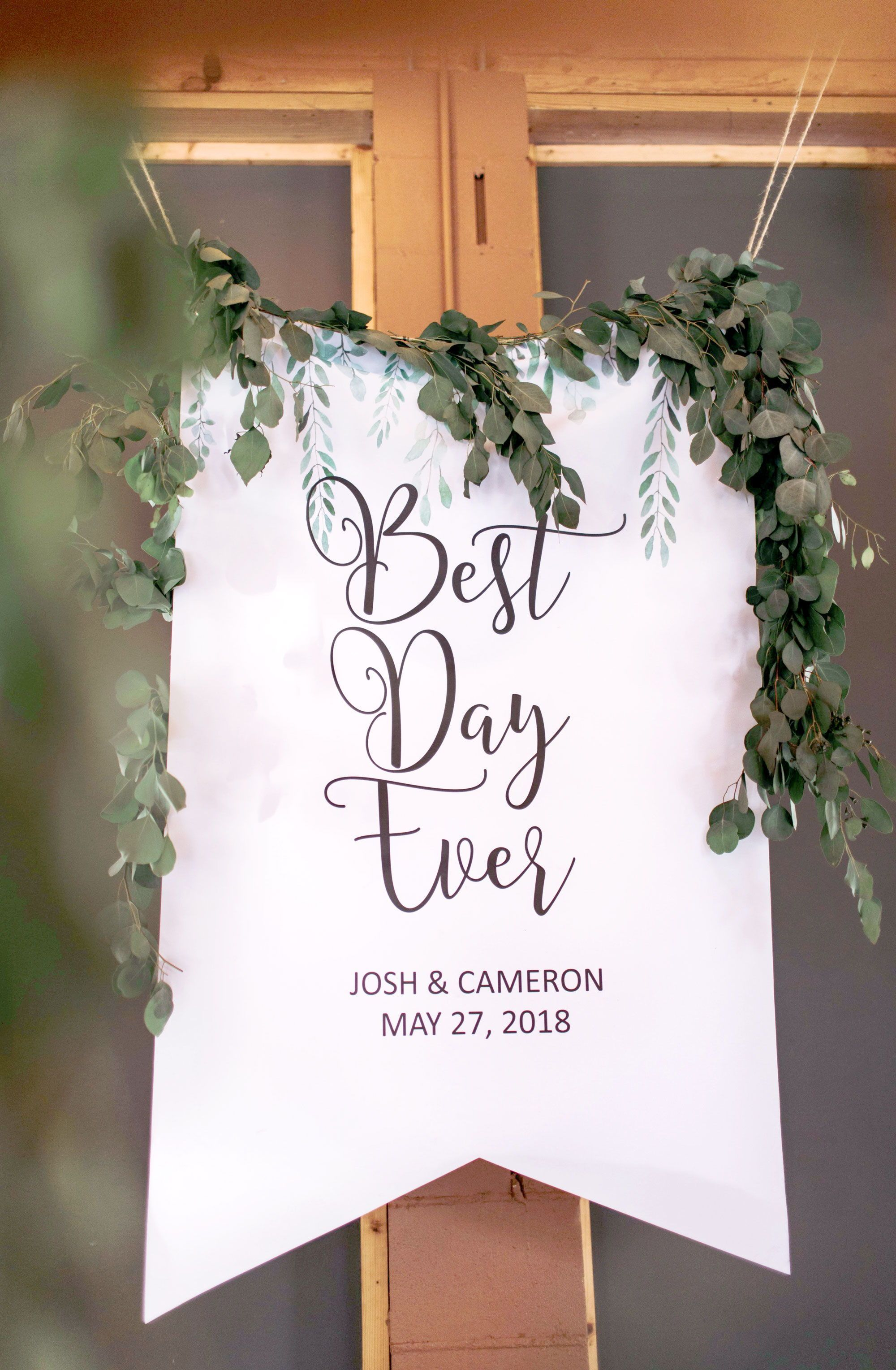 Personalized Best Day Ever Wedding Banner Handmade Wedding Decor Gifts At Www Zcreatedesign Com Or Shop Wedding Backdrop Wedding Banner Wedding Signs