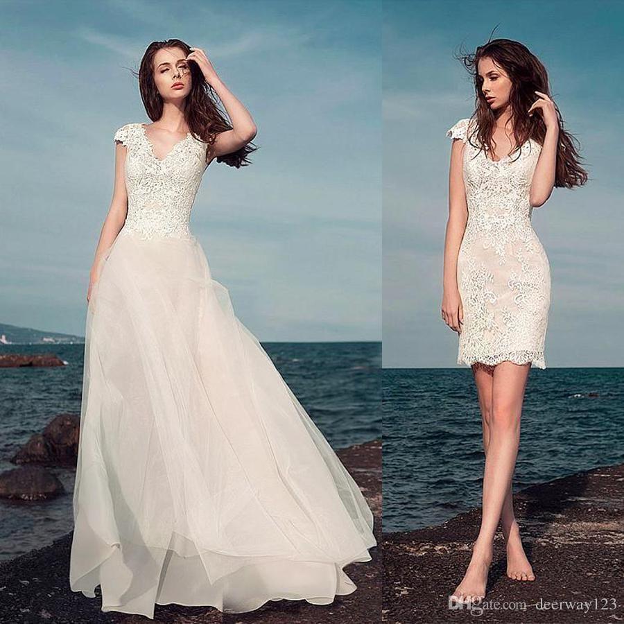New gorgeous dfloral appliques wedding dresses plunging vneck