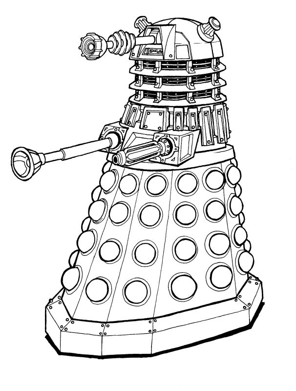 Dalek Lineart By Slycherrychunks Deviantart Com On