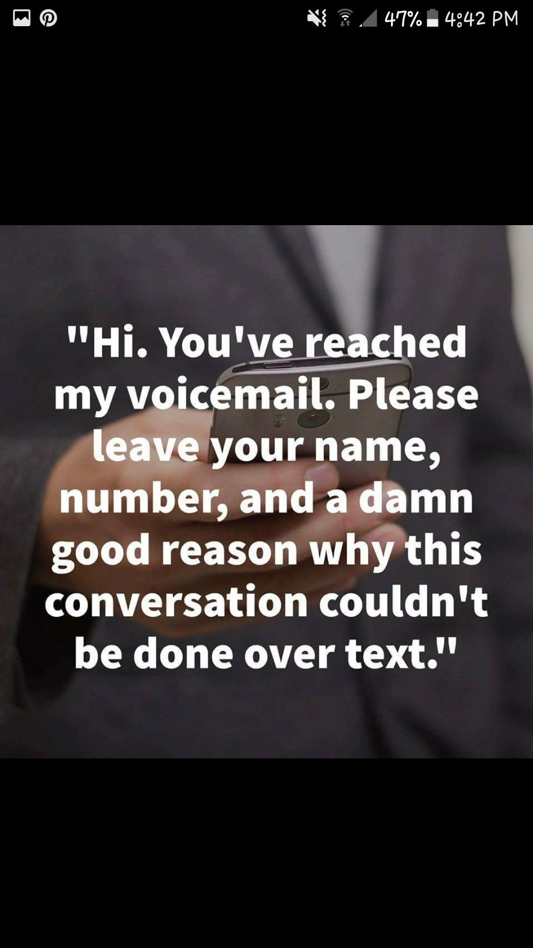 Hi Youve Reached My Voicemail Please Leave Your Name Number And