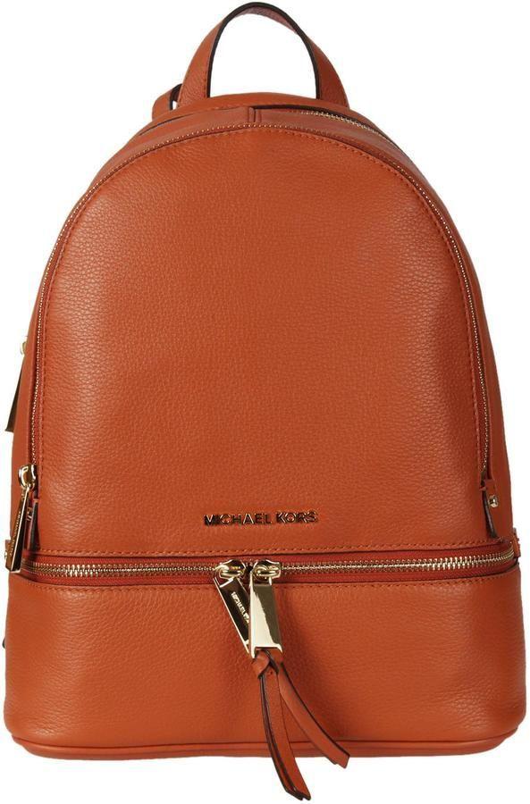 fe4c018f3abd Michael Kors Plain Backpack   Products   Backpacks, Orange backpacks ...