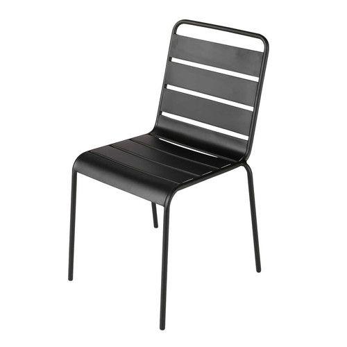 Frisch Gartenstuhl aus Metall, schwarz | Gartenstühle, Metall und Schwarzer CF11