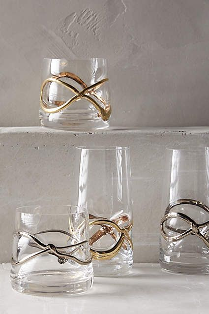 Glimmer-Wrapped Glassware - anthropologie.com