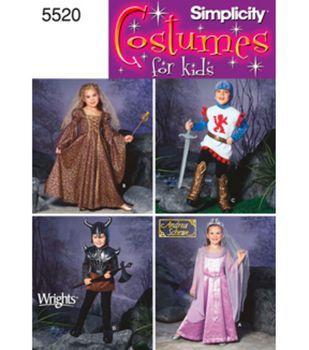 Simplicity Pattern 5520-Child's Costumes-Sz 3-6,7,8