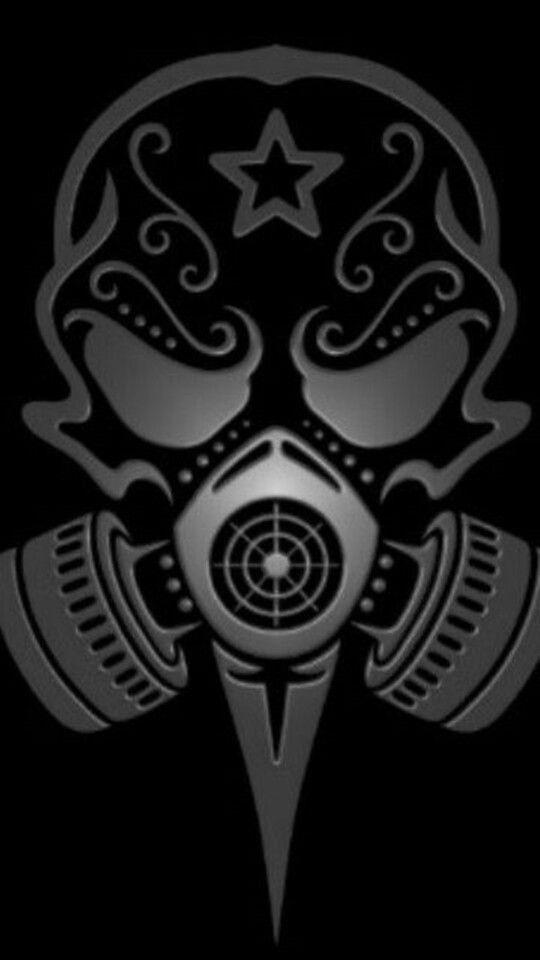 Pin By Deon Allen On Art Gas Mask Art Skull Art Skull Tattoos