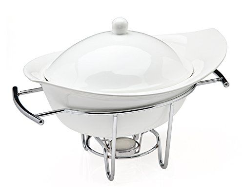 Food Warmer Candle ~ Classy porcelain chafing dish warmer the perfect single