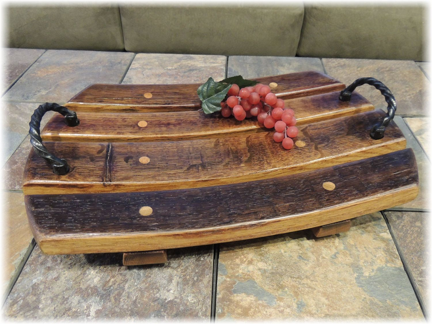 used wine barrel furniture. Wood Platter Is Made From The Staves Of A Recycled Wine Barrel. It Can Be Used To Display Fruit, Cheeses, Or Just Centre Piece On Coffee Table. Barrel Furniture