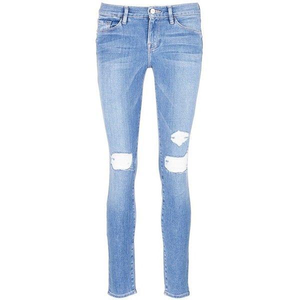 Jeans Détail En Difficulté - Cadre Bleu Denim XzuGIL0jq