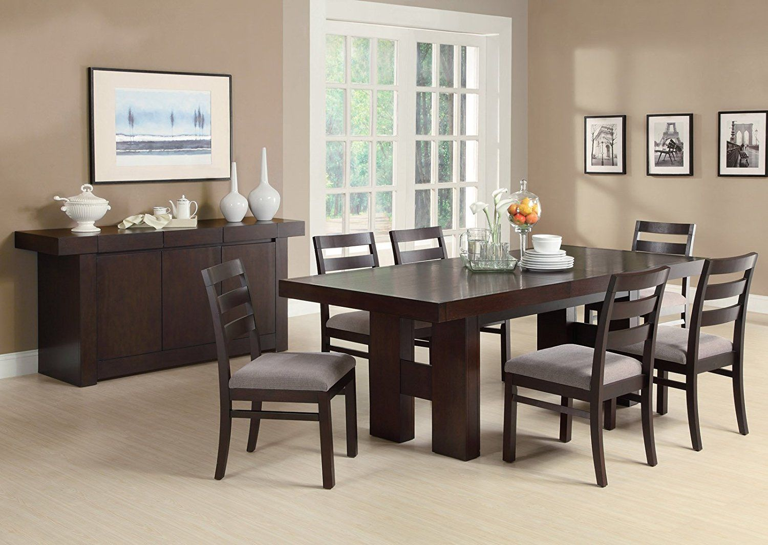 Amazon  Dabny 7Pc Dining Table Setcoaster  Table Stunning Coaster Dining Room Furniture Design Inspiration