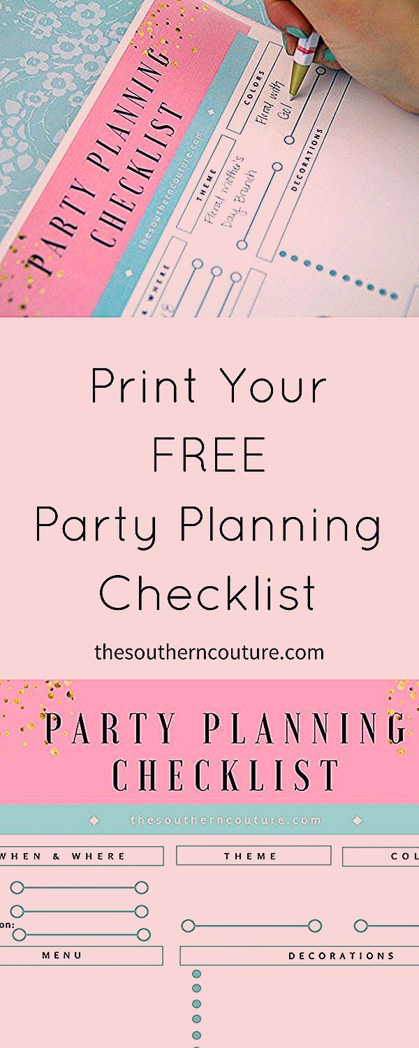Get Your FREE Party Planning Checklist