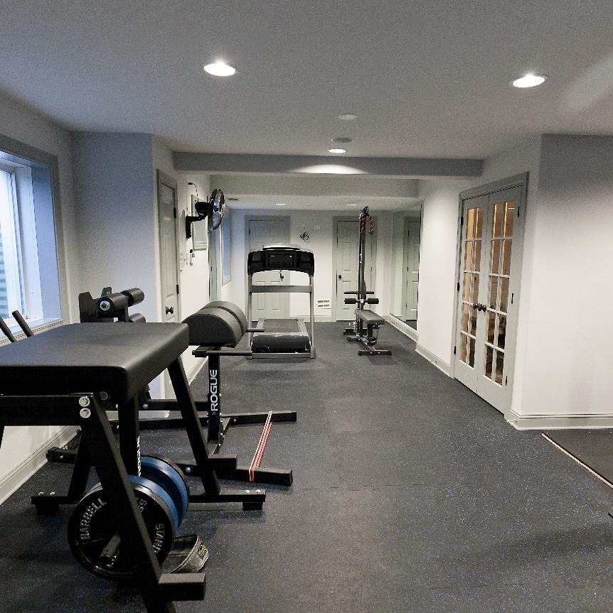 Home Gym Design Ideas Basement: Frankfort Fitness Room: We Remodeled An Unused Basement
