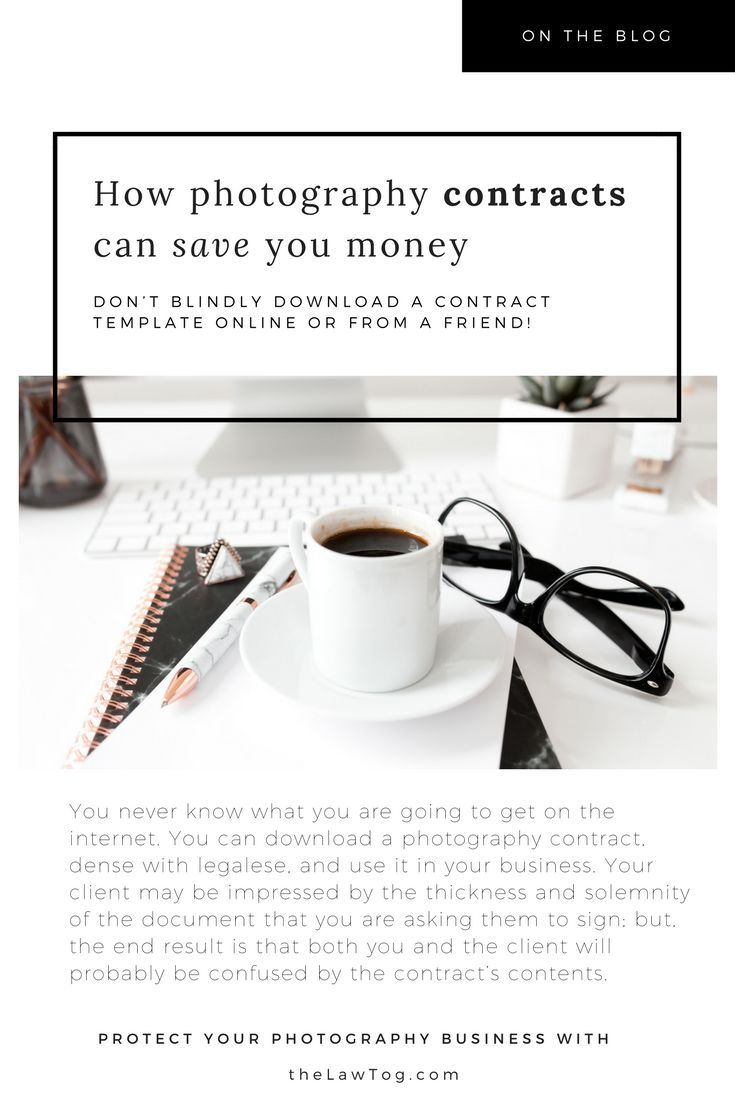 How Using Photography Contract Templates Can Save You Money