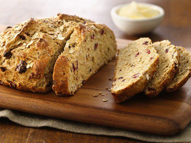 Five Grain Buttermilk Cranberry Bread White Whole Wheat Flour Recipe Homemade Bread Cranberry Bread Food