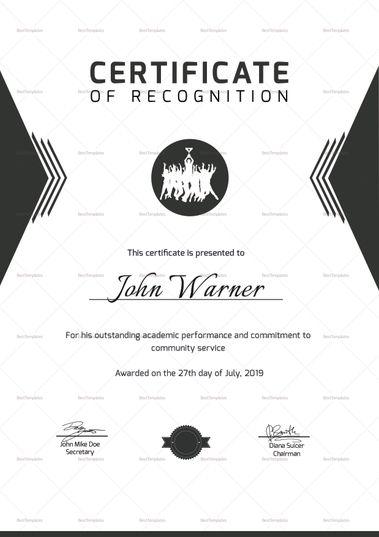 Prize Winning Certificate Template Certificate Certificate Design