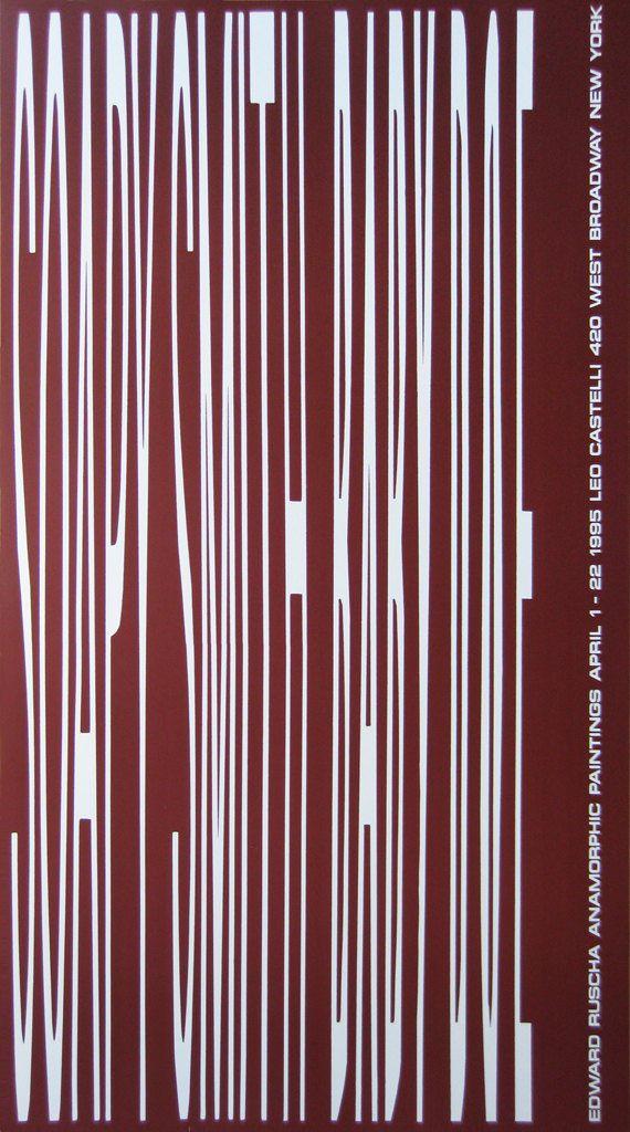 Edward Ruscha-Anamorphic Paintings-1995 Poster