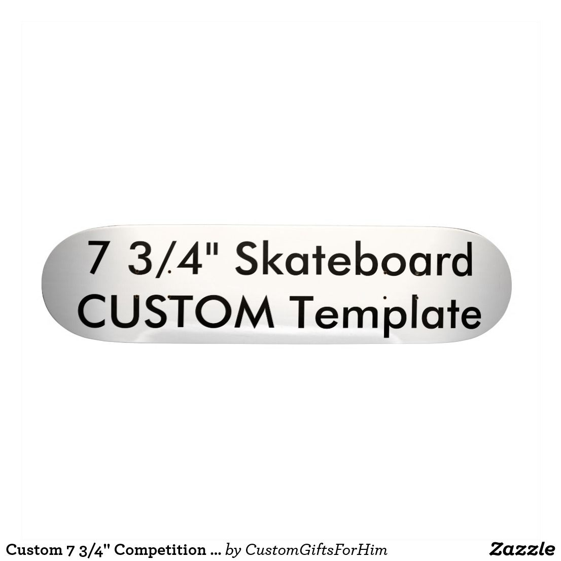 Custom 7 34 competition skateboard deck custom personalized custom 7 34 competition skateboard deck maxwellsz