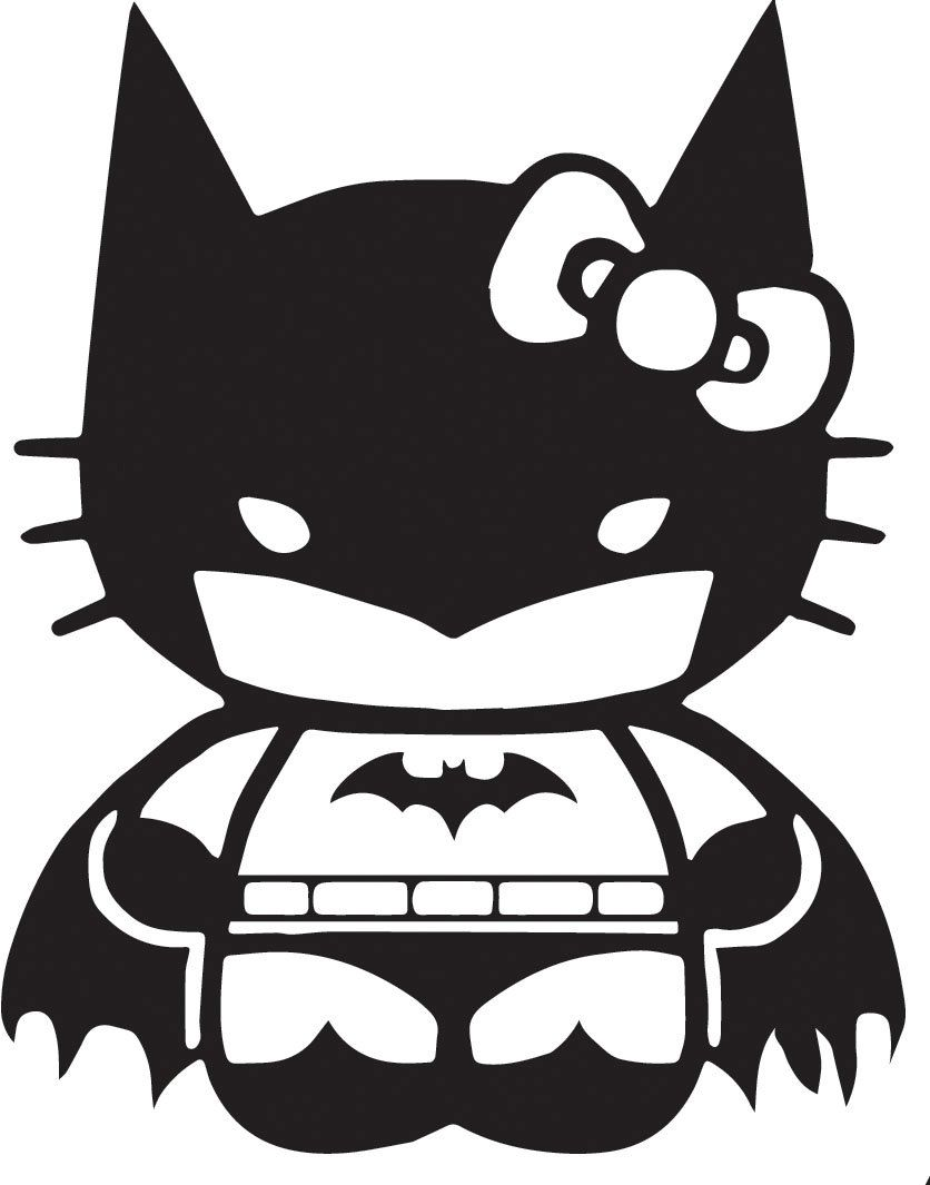 Kitty Batman Dark Knight Decal Vinyl. 2.00