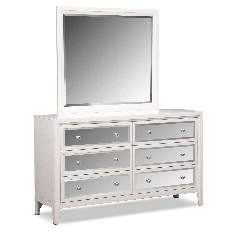 bedroom furniture bonita dresser and mirror white