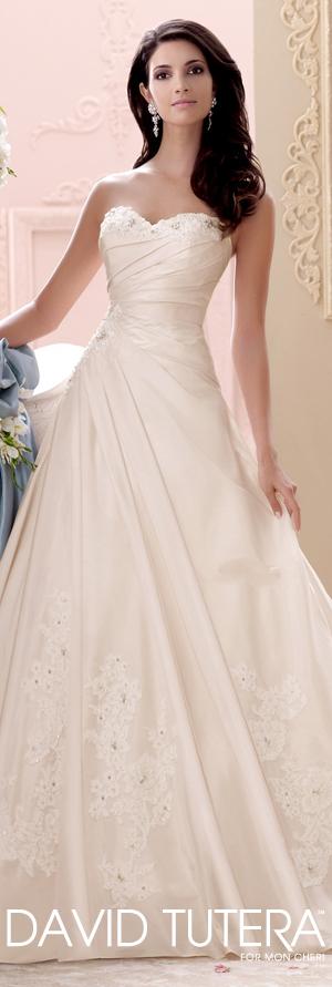 The David Tutera for Mon Cheri Spring 2015 Wedding Dress Collection - Style No. 115233 Apple   davidtuteraformoncheri.com  #weddingdresses