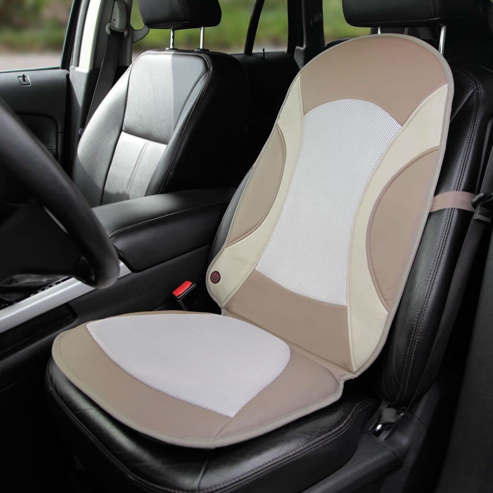 The Heating Or Cooling Car Seat Pad - Hammacher Schlemmer | Cool ...