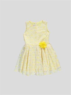 Elbise Lc Waikiki 59 95 Tl Elbise Cicekli Kiz Elbiseleri Sari Elbise